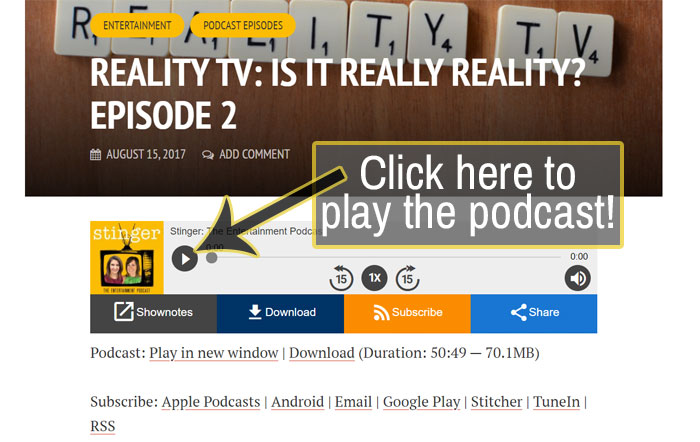 How to play a podcast in your web browser.