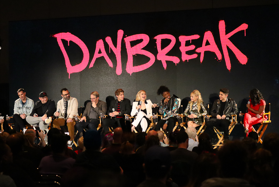 The cast of Daybreak at NYCC