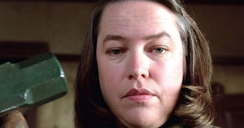 "Kathy Bates and Annie Wilkes in ""Misery."""