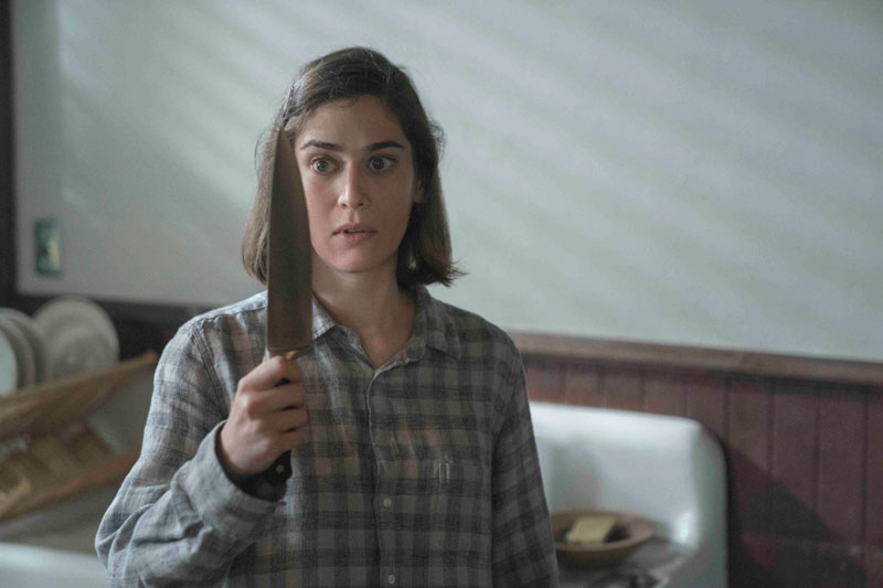 "Annie with knife in ""Castle Rock."""